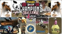 """CLN 2014 Champions Challenge Official (FI) History is being written today on February 27, 2014, by the top ten rodeo contestants in each rodeo event competing against one another with the greatest livestock in the sport of rodeo. It's a wonderful sight: The Professional Rodeo Cowboys Association (PRCA) ProRodeo has initiated a set series of circuit tours titled, """"Wrangler Champions Challenge,"""" presented by Justin Boots."""