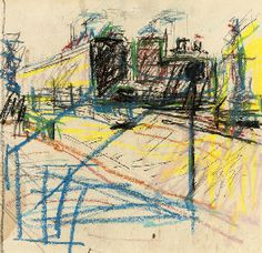 Frank Auerbach (b. 1931)   Drawing for Mornington Crescent ...