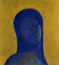 Odilon Redon - Closed Eyes, 1890
