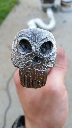 Hand forged railroad spike skull- Valkyr smithing--Matt