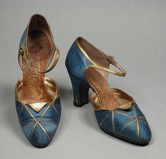 Pair of Woman's D'Orsay Pumps  André Perugia (France, Nice, Paris, active 1920)  France, 1920s  Costumes; Accessories
