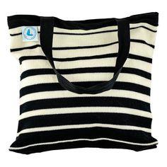 Beach Bag - Black Stripes