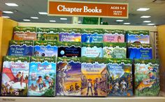 Magic Treehouse Series for O. We have books 1&4 already.