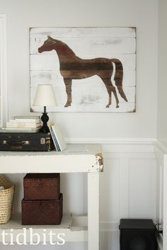 DIY Horse Silhouette Art - Tutorial