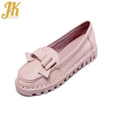 J&K2017 Women's Vulcanize Shoes Cow Genuine Leather Pigskin Inner Comfort Soft Sole Shoes Women Flat Outdoor Bowtie Casual Shoes