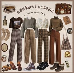Colourful Outfits, Retro Outfits, Cute Casual Outfits, Vintage Outfits, Teen Fashion Outfits, Mode Outfits, Aesthetic Fashion, Aesthetic Clothes, Kleidung Design
