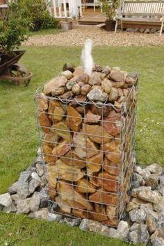 Wasserspiel, Brunnen, Springbrunnen, Garten, Wasser,Gabione