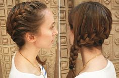 Super easy French braid hairstyles for girls. French braid hairstyles for curly hair. French braid styles for short hair. French Braid Styles, Side French Braids, Side Braids, Side Plait, Braided Hairstyles For School, French Braid Hairstyles, Trendy Hairstyles, Katniss Braid, Short Hair
