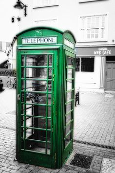 Irish Phone Booth In  Kinsale Photograph  - Irish Phone Booth-usually green,will be in my Irish Pub bathroom-on a smaller scale-They make red cabinet 45 inches tall and will paint it green!!