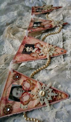 #2nd Day of Whimsy - Victorian Rose Pennants