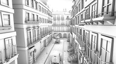 Ambient occlusion 3d street