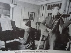 Jascha Heifetz and his sister