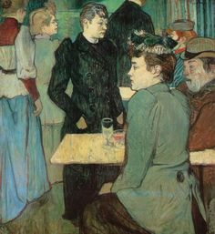 """Henri de TOULOUSE-LAUTREC """"Au Moulin de la Galette"""""""