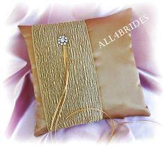 #All4BridesArtfire on Artfire                       #ring                     #Gold #ring #bearer #pillow, #weddings #ceremony #decor                       Gold ring bearer pillow, weddings ceremony decor                              http://www.seapai.com/product.aspx?PID=1373072