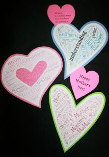 Mother's Day Word Art - will teach my class how to use this website to make Mother's Day gifts. . .