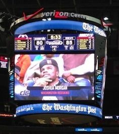 Note To The Washington Wizards' Jumbotron: That Is Not Redskins' WR Josh Morgan, It Is A Random Black Guy