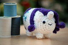 Rarity Plush Crochet Amigurumi My Little Pony Friendship is Magic Chibi Rarity Toy