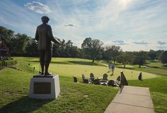The Union League Golf Club at Torresdale. The 7ft, bronze statue of golf course architect, Donald Ross, watching over the #ULGolfClub today and always. #LeagueLife