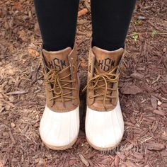 Niah Size 6 - Monogrammed Duck Boots   Marleylilly