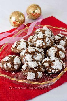 朱古力裂紋曲奇餅 Chocolate Crackle Cookies