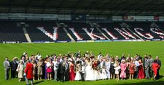 Wedding party on the pitch
