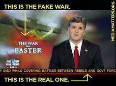 Real war vs. fake war