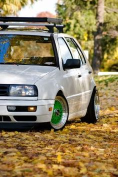 Go with SOLO: MK3 Golf w/green BBS