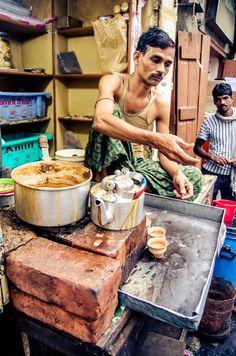 Chai Stall..Calcutta, India