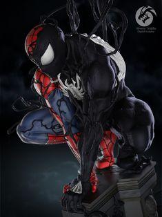 Marvel Art, Marvel Comics, Spiderman Black Suit, Spiderman Symbiote, Creative Art, Cover Art, Art Projects, Character Design, Darth Vader