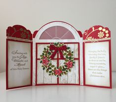 Stampin Up Wondrous Wreath Gate Card, inside view by Leah Gagum