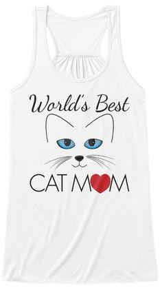 World's Best Cat Mom White Women's Tank Top Front