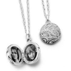 Wonderful Monica Rich Kosann lockets. Incredibly well crafted and sure to make an impression. We can crop and install the photos for you on time for Christmas.