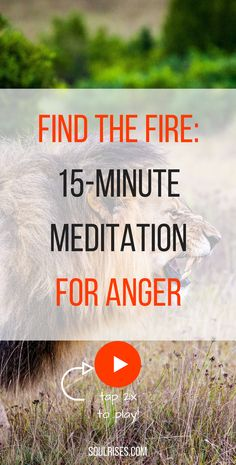 Find the Fire: a 15-Minute #meditation for #anger: get to a private place for this meditation to relieve and cool anger with a #pranayama technique.