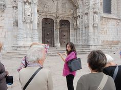 Our guide, Maria, in action. Algarve, Lisbon, Portugal, Action, Group Action