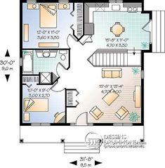 Détail du plan de Maison unifamiliale W4127