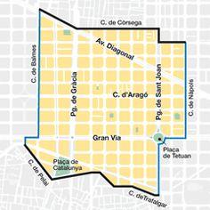 Dreta de l'Eixample Map