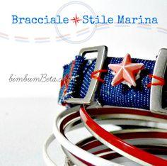 Bim Bum Beta: Come fare: Bracciale in stile marina{Recupero rotolo di cartone e tela jeans}