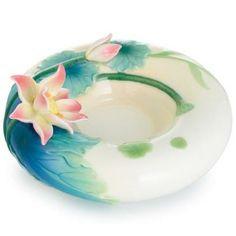 Peaceful Lotus Flower Tealite Candle Holder