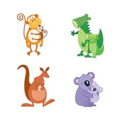 Cute little parent and baby spot illustrations commisioned by McNeils Pharmaceuticals for their peadiatric range