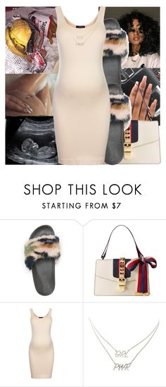 """{CONTEST}"" by littydee ❤ liked on Polyvore featuring Charlotte Russe, Gucci and Topshop"