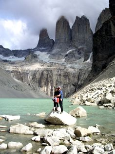 All smiles at the spires. #TorresdelPaine