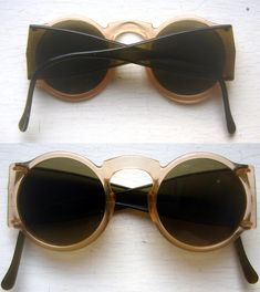 1930s Round Celluloid Safety Glasses.