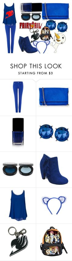 """""""Happy from Fairy Tail"""" by unicornlover1111111 ❤ liked on Polyvore featuring Polo Ralph Lauren, Express, Forever 21, Kenneth Cole, FACE Stockholm, Yoki, Sisters Point and Maison Michel"""