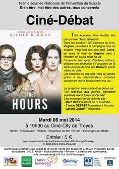 Ciné Débat prévention du suicide. Le mardi 6 mai 2014 à Troyes.  19H30