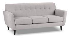 erica ii grey fabric sofa and loveseat living room pinterest rh za pinterest com Grey Tufted Sofa Light Gray Sofa and Loveseat