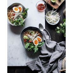 20-minute Noodle Soup With Vegetables And A 8 Minute Egg. Get this and 50+ more Noodle Soups recipes at https://feedfeed.info/noodlesoups