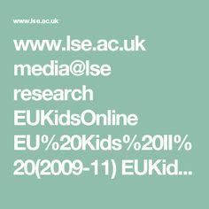 uk media research EUKidsOnline EUKidsOnlineIIReports DigitalSkillsShortReport. Research, Self, Reading, Search, Science Inquiry