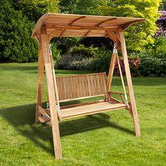 OMT, columpio de madera con techo - No. de item: 853381