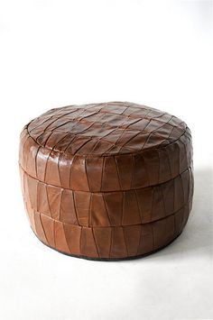 VINTAGE LEATHER PATCHWORK STOOL THE NETHERLANDS アンティーク ヴィンテージ クッション スツール