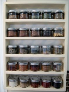 Spice rack-use mason jars!!